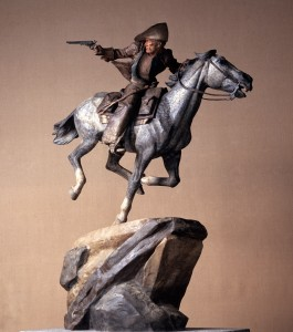 08-Pony Express Five Foot Painted by Harry Jackson, 1984